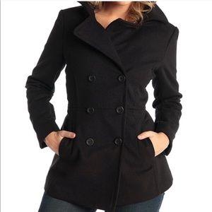 Michael Kors black wool pea coat size small